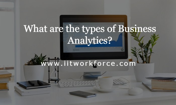 What are the types of Business Analytics?